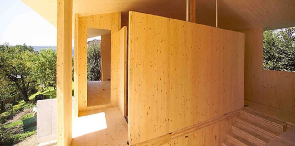 Maison en panneaux bois massif ou panneaux contrecoll s for Panneaux decoratif interieur
